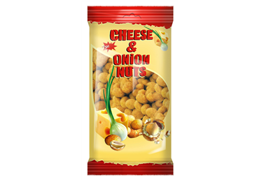 Žemės riešutai Jėga su sūriu ir svogūnais, 200 g