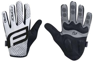 Force MTB Spid 17 Full Gloves White/Black XXL