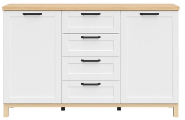 Black Red White Haga Chest Of Drawers KOM2D4S White