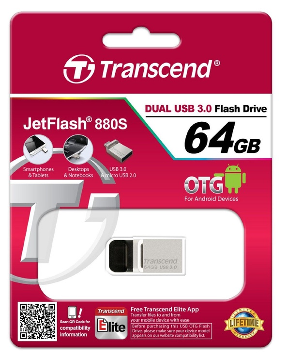 Transcend 64GB Jetflash 880 OTG USB 3.0