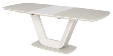 Pusdienu galds Signal Meble Armani Cream, 1600x900x760 mm