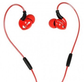 Ausinės iBOX S1 Sport Audio Mobile Headphones Red/Black
