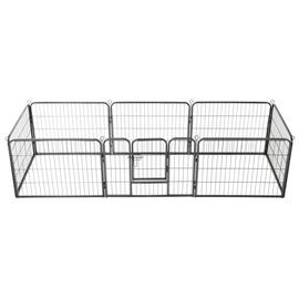 Kaitse VLX Dog Playpen 8 Panels Black, 2400x800x600 mm