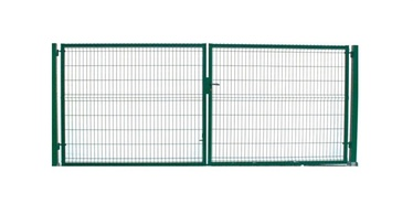 Garden Center Gate RAL6005 4000x1230mm Green