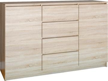 Комод Top E Shop 2 Doors 4 Drawers Sonoma 140cm