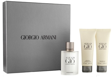 Rinkinys vyrams Giorgio Armani Acqua di Gio Pour Homme 50 ml EDT + 75 ml After Shave Balm + 75 ml Shower Gel