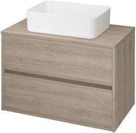 Cersanit Bathroom Cabinet Crea 80cm Oak