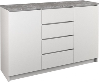 Komoda Top E Shop B22 4 Drawers 2 Doors White Concrete