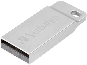 USB atmintinė Verbatim Metal Executive Silver, USB 2.0, 32 GB