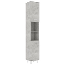 Шкаф для ванной VLX 802628, серый, 30 x 30 см x 179 см