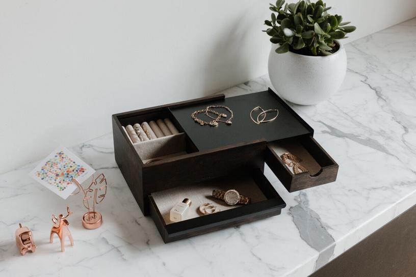 Umbra Stowit Jewelry Box Brown 22x26x12cm
