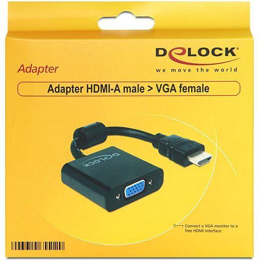 Delock Adapter HDMI-A to VGA Black