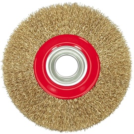 Vorel Crimped Brass Plated Wire Wheel Brush 125mm