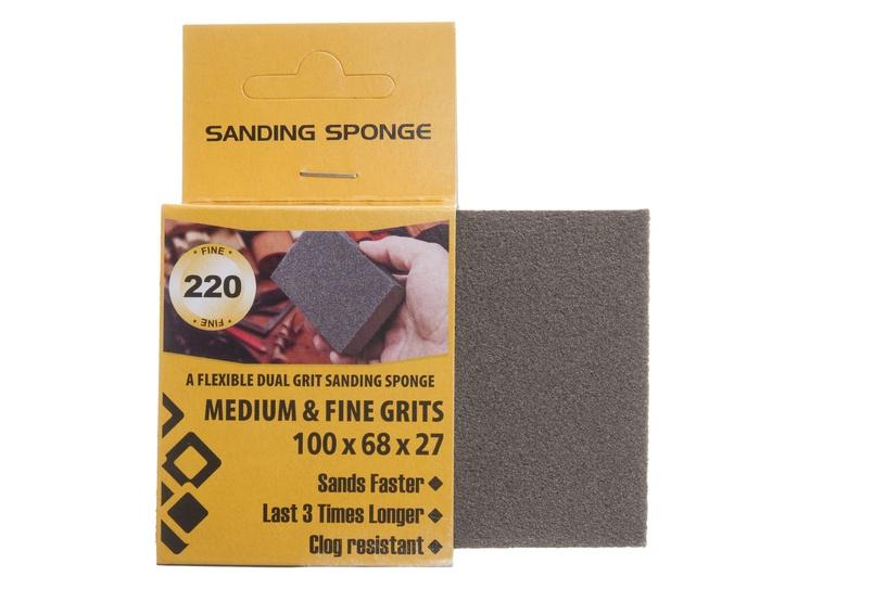 Šlifavimo kempinėlė Forte Tools, Nr 220, 100 x 68 x 27 mm, 1 vnt