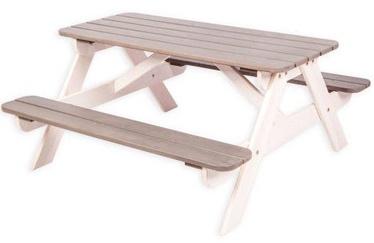 Folkland Timber Children Picnick Table White/Graphite