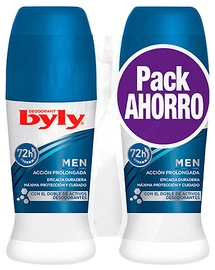 Byly Men Deodorant Roll On 2x50ml