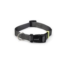 Beeztees Nylon Collar Uni Dark Grey 26-40x1.5cm