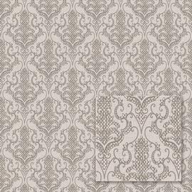 Tapetas vinilinis popierinis Sintra 456217 Vila, pilkas klasikinis raštas