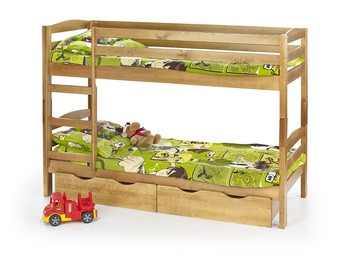 Vaikiška dviaukštė lova Sam, alksnio spalvos, 80 x 190 cm