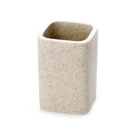 Stiklinė dantų šepetėliams Novito BPO-1409B, smėlio spalvos