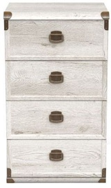 Black Rec White Chest Of Drawers Indiana JKOM 4S/50 Canyon Pine