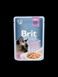 Konservuotas ėdalas katėms Brit Premium Cat Delicate Salmon for Sterilised in Gravy, 85 g