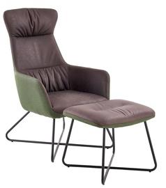 Halmar Tinto Leisure Chair With Ottoman Dark Grey