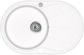 Aquasanita Clarus Granite Sink 780x500 White