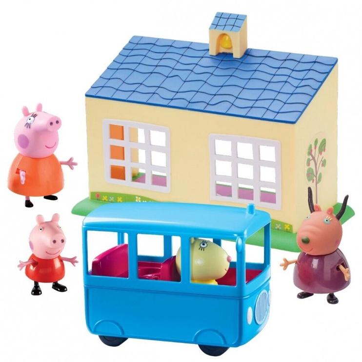 TM Toys Peppa Pig Shool & Bus Playset