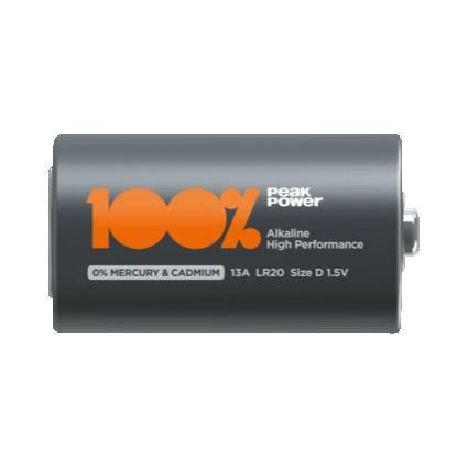 Elementai Peakpower Alkaline D/LR20, 2 vnt.
