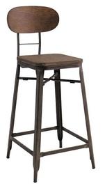 Signal Meble Lope Bar Stool Walnut/Graphite