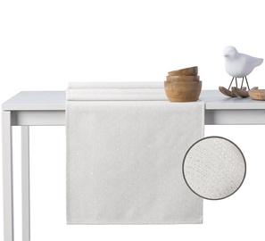 DecoKing Sparkle HMD Tablecloth Cream Set 115x250/35x250 2pcs
