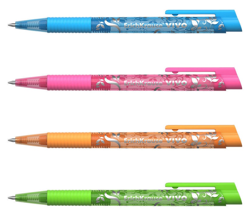 ErichKrause Ballpoint Pen Vivo Spring Blue 12pcs
