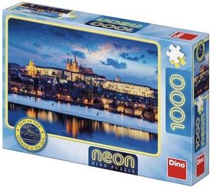 Puzle Dino Neon Prague Castle 54127, 1000 gab.