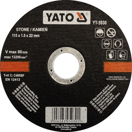 Yato YT-5930 Stone Cutting Disc 115mm