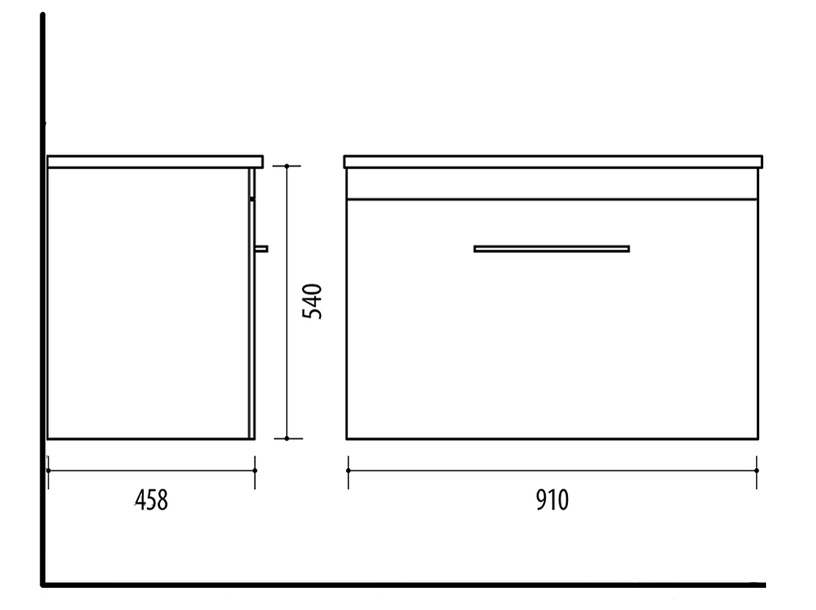 Vonios spintelė Riva SA91-3A Rigoletto Anthracite