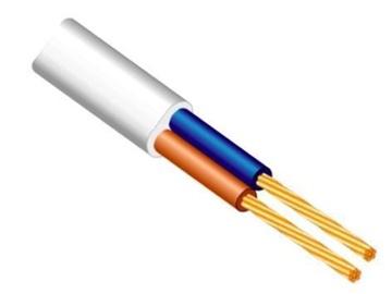 Elektros instaliacijos kabelis Lietkabelis H03VVH2-F, 2 x 0,5 mm²
