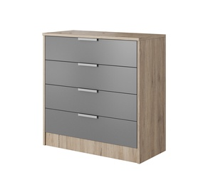 Idzczak Meble Milano 46 4S Chest Of Drawers Remo Sand/Grey