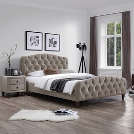 Home4you Sandra Bed w/ Mattress Harmony Duo 160x200cm Light Brown