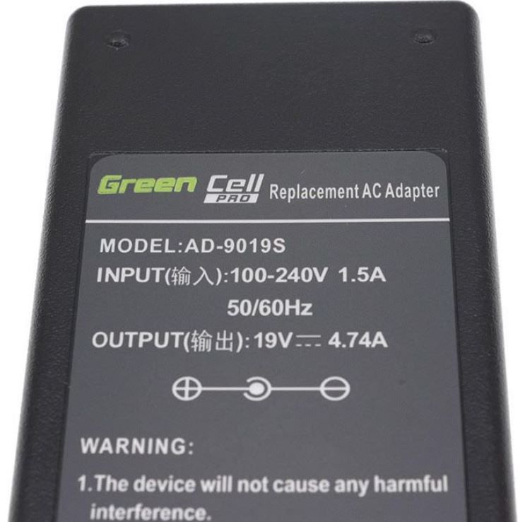 Green Cell Laptop Power Adapter 4.74A 90W