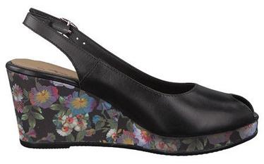 Basutės, Tamaris Giove Sandal 1-1-29313-20, Black Lea Flower, 37