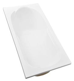 Vonia Besco Piramida Bona, 150x70x50 cm, akrilas, stačiakampė