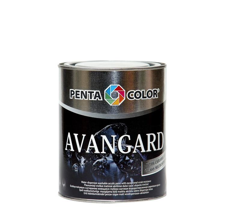 Krāsa dispersijas Pentacolor Avangard, 0.9 l, balta