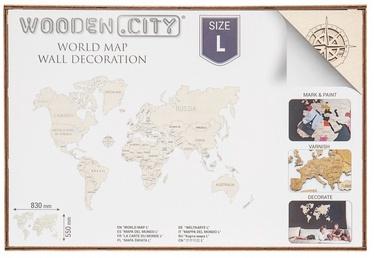 Wooden City Puzzle World Map L 31pcs