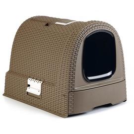 Кошачий туалет Curver Curver 400461, коричневый, закрытый, 510x385x395 мм