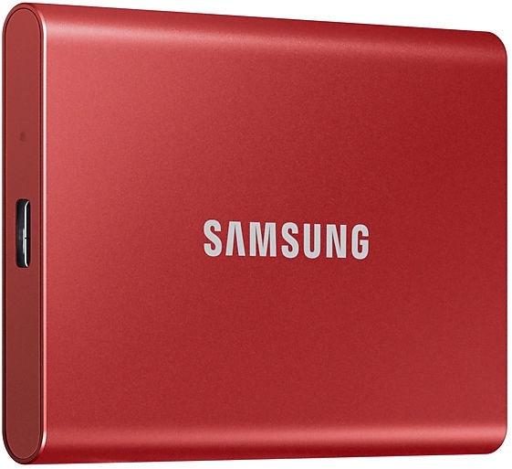 Жесткий диск Samsung T7 Portable, SSD, 1 TB, красный
