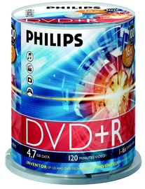 Philips 4.7GB DVD+R Cake Box 100pcs