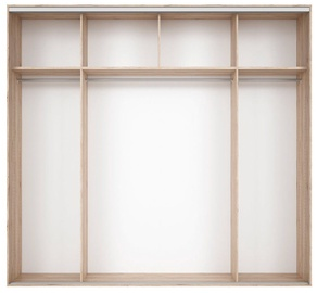 Black Red White Wardrobe Frame Nadir 240 Light San Remo Oak