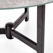 Kafijas galdiņš Halmar Twins, brūna/melna/pelēka, 600 - 700x600x300 - 430 mm