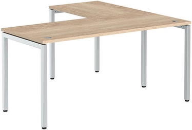 Skyland Corner Table XSCT 1615 Sonoma Oak/Aluminum